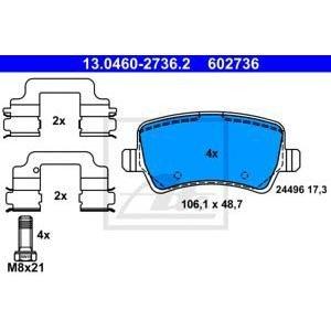 Задни накладки за вент. Дискове ATE 13.0460-2736.2 302мм Volvo S60 V70 XC70 S80 D5 2008-